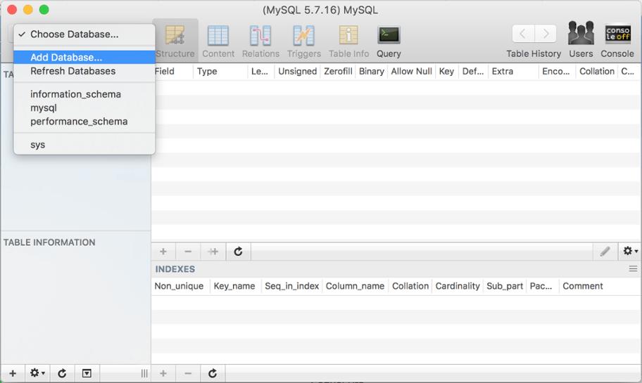 MySQL Manager Screenshot